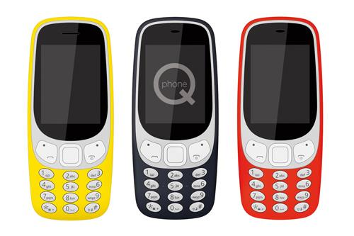 """2,4"""" QPHONE B33<BR/>BAR PHONE"""
