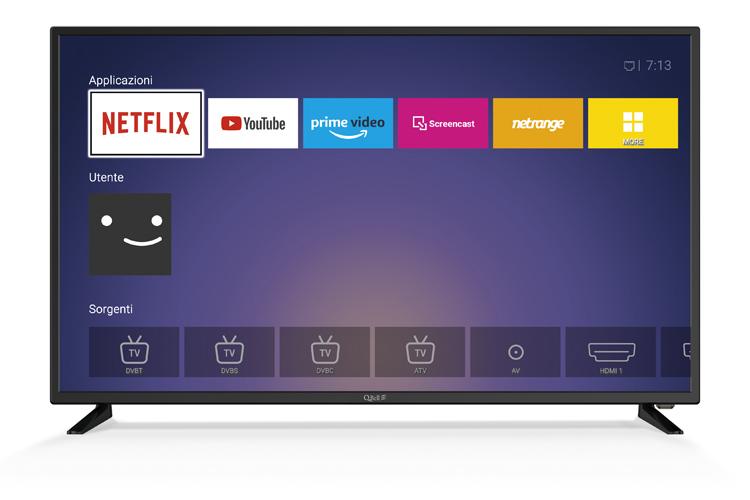 """43"""" UHD Netflix 5.1 </br>DVB-T2/S2 HEVC main 10"""
