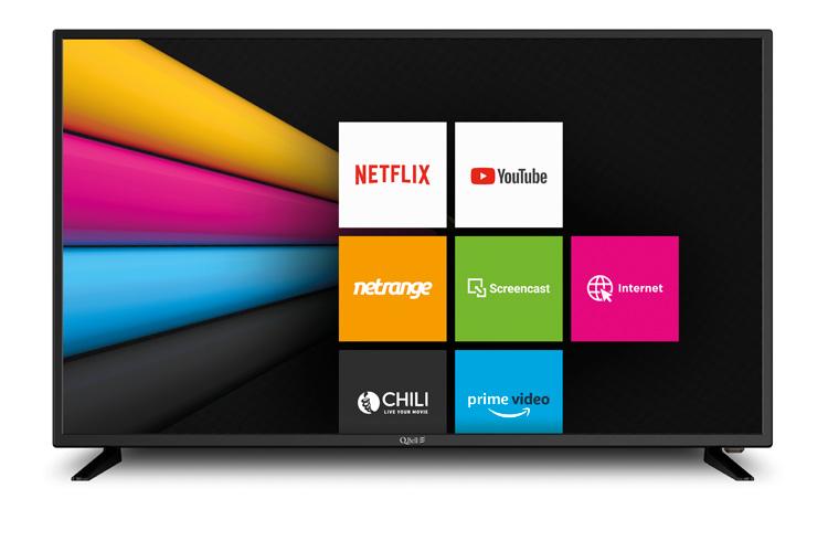 "43"" SMART UHD Netflix 5.1 </br>DVB-T2/S2 HEVC main 10"