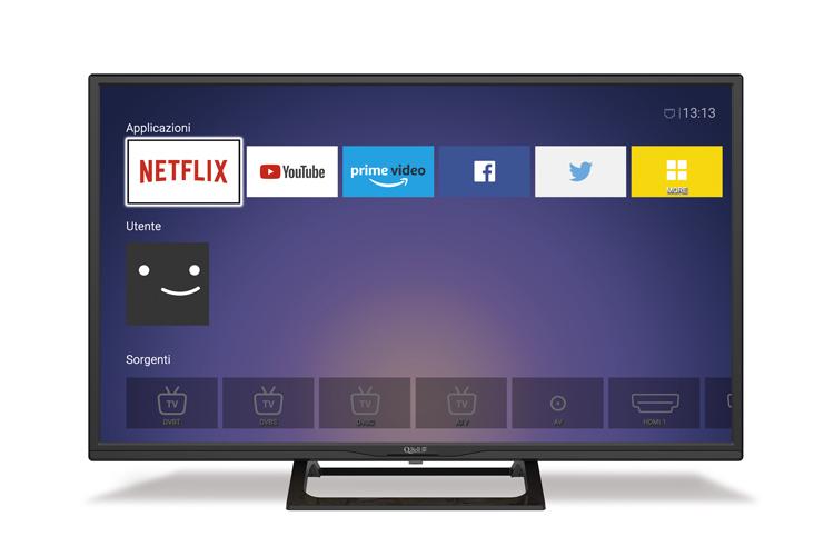 "32"" HD Netflix 5.1 <br/> DVB-T2/S2 HEVC main 10"