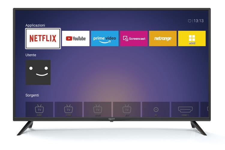 "40"" FHD Netflix 5.1 <br/> DVB-T2/S2 HEVC main 10"